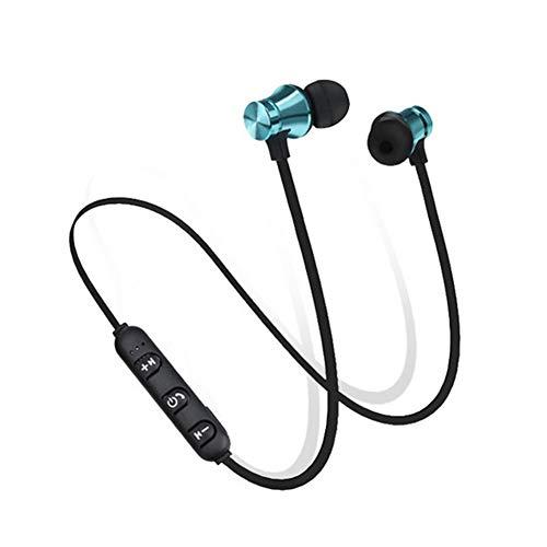 RRunzfon Auriculares Bluetooth magnéticos Bluetooth Auriculares In-Ear Auriculares Inalámbricos Auriculares Música Azul