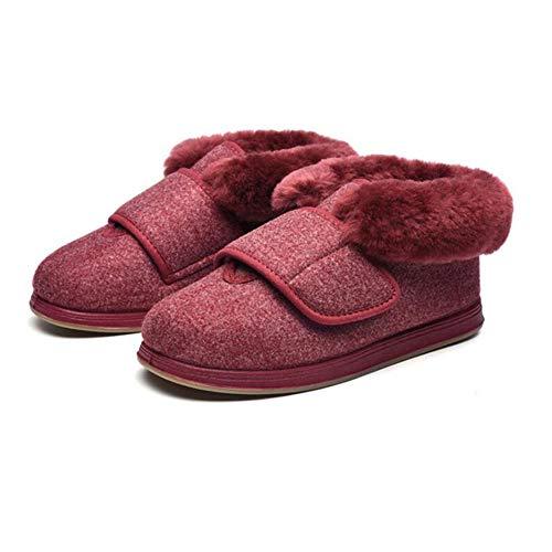 cirugía del pie,Zapatos de pies hinchados Ajustables,Zapatillas de algodón para pie diabético-Pink_42,Zapatos Diabéticos Respirable
