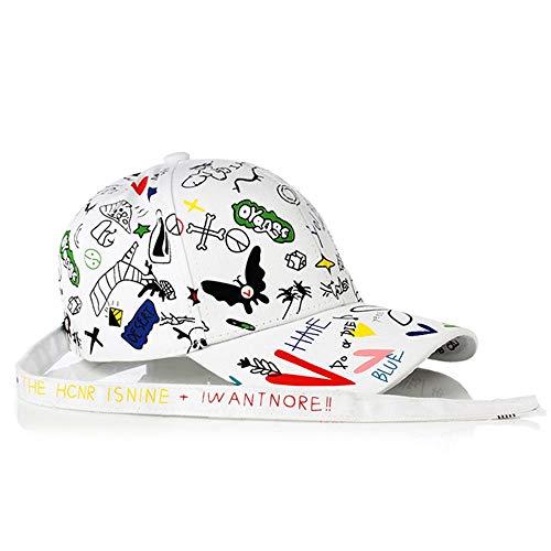 Cap Graffiti nueva primavera y el verano de la manera del sombrero de Sun de la historieta del sombrero de Sun impresión a todo color de moda de los hombres y las mujeres del sombrero de Sun de secado