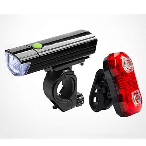 GENGJ Fahrradlicht-Set, wiederaufladbar, vorne und hinten, super helle Fahrradlichter, Quick Release Clip-Licht, LED Fahrrad-Taschenlampe, Mountain/Straße/Kinderfahrrad