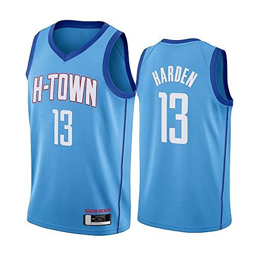 NBA Men Rockets # 13 James Harden Camiseta Baloncesto, Chaleco Sin Mangas, Uniforme Baloncesto, Camiseta Sin Mangas Fitness Retro, Camiseta Deportiva Sin Mangas,S