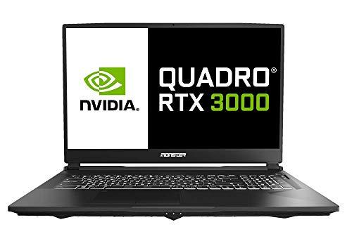 Monster Markut M7 V3.1.1, 17.3 Zoll 144Hz Workstation Laptop, Intel Coffee Lake E-2276M Turbo Boost 4,7GHz, NVIDIA RTX3000 Quadro 6GB GDDR6, 64GB DDR4, 1TB SSD, Windows 10 Pro, Rucksack geschenkt