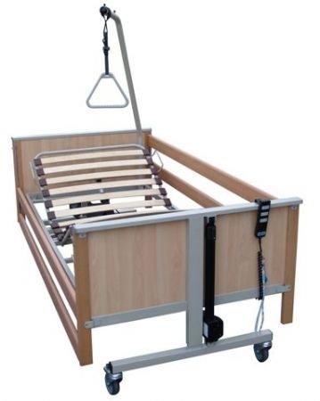 Pflegebett aks-L4, Liegefläche mit Federholzleisten