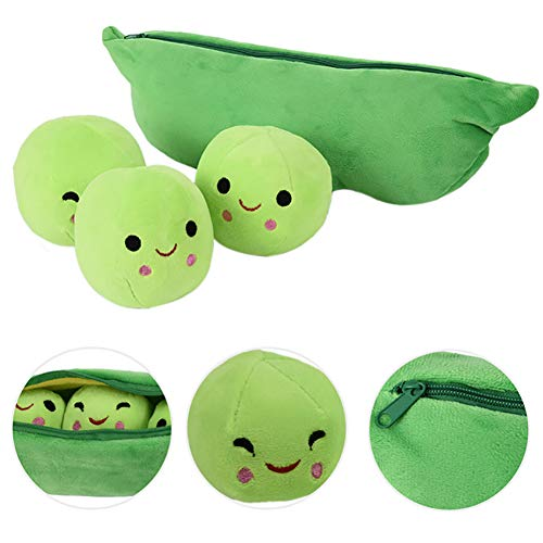 1pc Peas-in-a-Pod Toys Plush Bean Toy Stuffed Plant Pillow Doll Toys Super Soft Doll Pillow Novelty Design Children Gift(15.7 Inch)