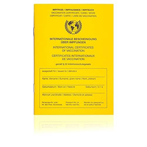 Internationaler Premium Impfpass/Impfbuch/Impfausweis inkl. Nachweisfeld für die Covid19-Impfung/Aktuelle Neuauflage 2021