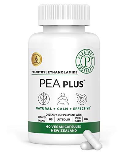 Plantonin Pea Plus Nootropic-Palmitoylethanolamide (60 Capsules)-Promotes Healthy Inflammatory Response-Supports Joint Pain Management-Luteolin, Phosphatidylserine, Enzogenol & Pyrroloquinoline-Vegan