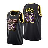 DWQ Jersey de Baloncesto para Mujer para Hombres, Morris # 88 Lakers Polyester Refrescante de Baloncesto Transpirable, Chaleco sin Mangas (S ~ 2XL) M