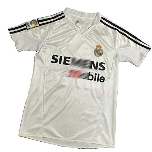 2004-05 Jersey Retro Adecuado para # 5 Zidane # 9 Ronaldo # 7 Camiseta de fútbol de Raul, Jersey de fútbol de la Vendimia, Fans Camisa de Entrenamiento NO num-M