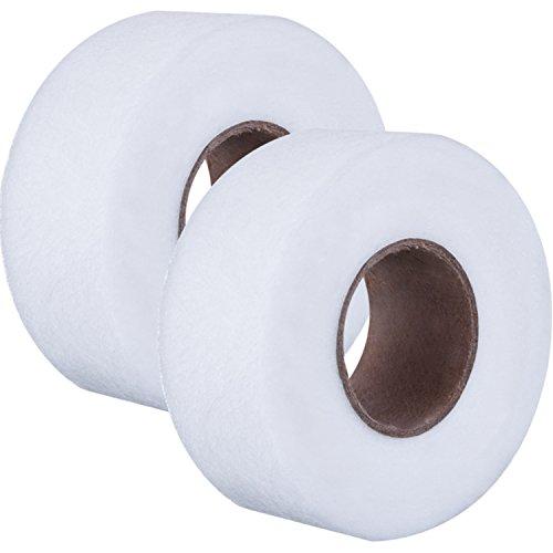 Stoff Fusing Tape Adhesive Hem Tape Bügeleisen Klebeband Klebstoff Saum Band auf je 27 Yards, 2 Stück(1 Zoll)