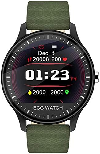 Elegante reloj de mujer con contador de podómetro Bluetooth, contador de pasos/monitor de sueño, regalo para damas-verde