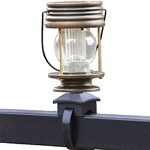 Outdoor e LED Retro Solar Powered Lamp Strap on Solar Lantern Vintage Camping Lamp Retro Kerosene for Landscape Yard Garden Pathway Beach Pavilion Decoration