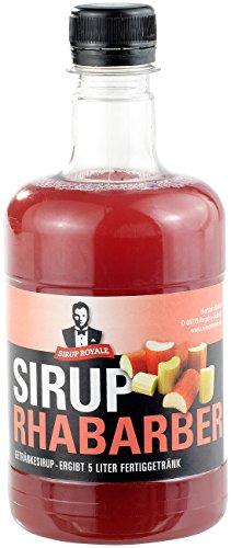 Sirup Royale mit Rhabarber-Geschmack, 0,5 Liter, PET-Flasche