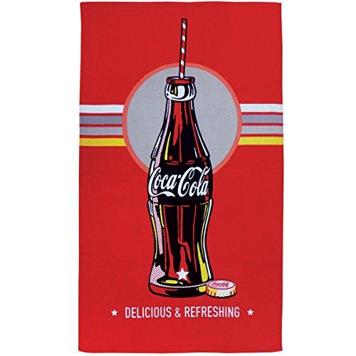 CTI 043422 Coca-Cola Bottle - Toalla de Playa, 70 x 120 cm, Color Rojo