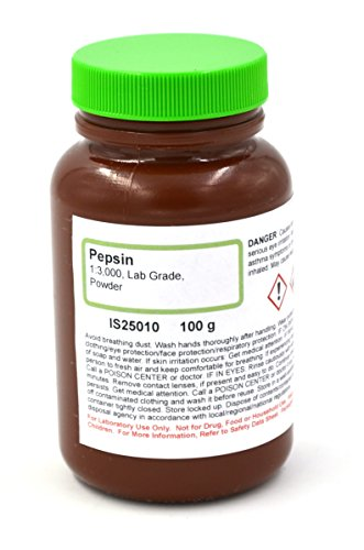 Lab-Grade Pepsin Powder, 100g (3000:1) - The Curated Chemical Collection