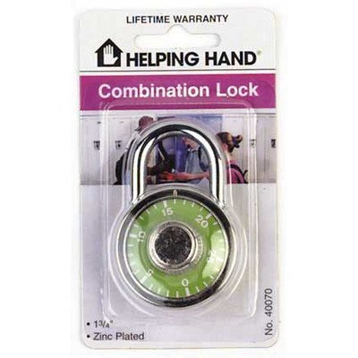 Helping Hand FQ40070 Padlock Dial Combo, 1-3/4 by Helping Hand
