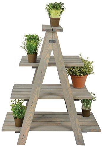 Esschert Design Pflanzenleiter, 62 x 39 x 73 cm, in Holz, 4 Etagen, Holzleiter