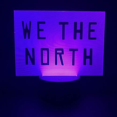 Nachtlampje 3D nachtlampje illusielamp typeplaatje 7 kleurvarianten Touch Remote Home Decoration
