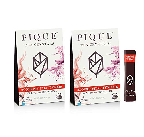 Pique Tea Organic Rooibos Tea Crystals - Immune Support, Healthy Digestion, Radiant Skin - 14 Single...