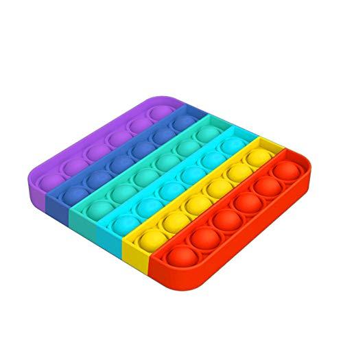 TATUNER Push Bubble Sensory Fidget Toy Spielzeug für Erwachsene Kinder, lustige Anti-Stress-Spielzeug, Silikon Squeeze Toy Geschenk Safty für Kinder (A)
