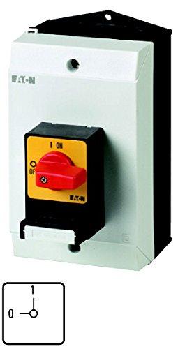 Eaton 207328 Panikschalter, 3-polig, 32 A, Vorhängeschloss-Sperre Svc, Frontschild 0-1, 90 Grad, Rastend, Aufbau, P