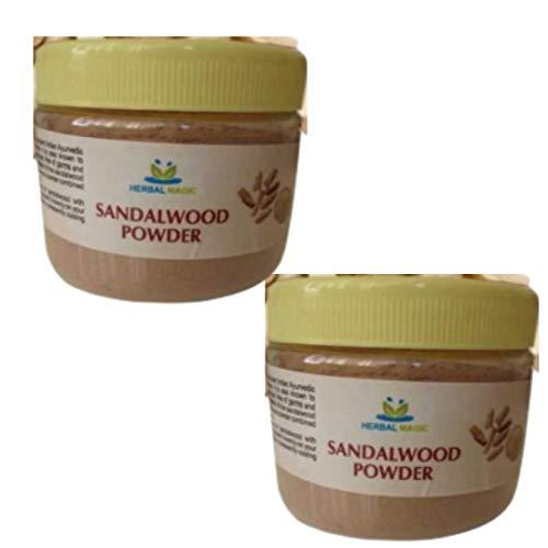 5Og Yellow Sandalwood Powder Helps In Removing Wrinkle Sun Tan Dark Spots Acne blackheads Oily Skin. 100g Multipurpose Hibiscus Powder with every bundle (Sandalwood Powder - Pack 2)