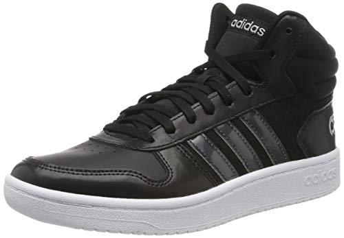 adidas Damen Hoops 2.0 Mid Basketballschuhe, Schwarz (Core Black/Core Black/Ftwr White), 39 1/3 EU (6 UK)