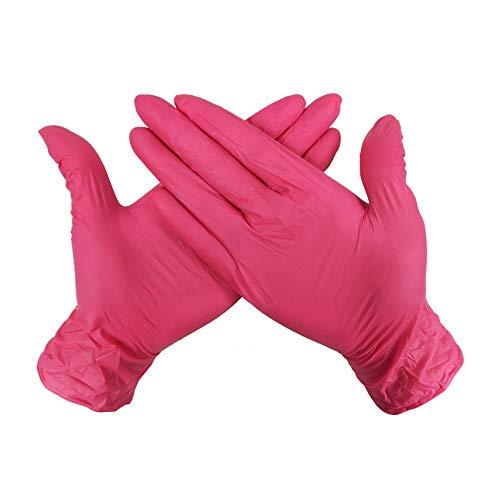 ZUOSHENG-SG Grade A Food Grade Rosenhag Kondom Nitril-Handschuhe Einweghandschuhe PVC medizinische Handschuhe 50 Paare/Packung Sonnenschutz warme Sicherheit Hochzeit Gartenhands (Größe : L)