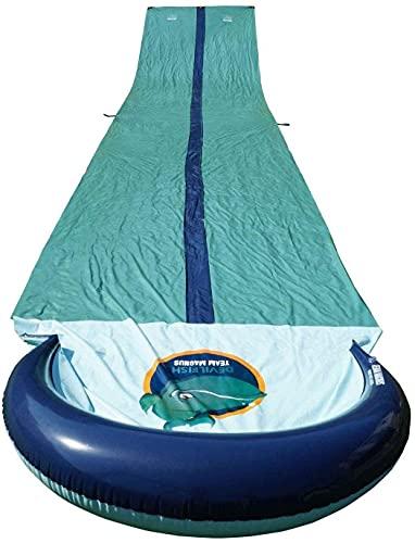 Team Magnus Water Slide With Inflatable Crash Pad