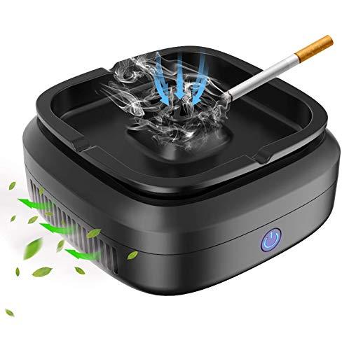 Luftreiniger Aschenbecher, Multifunktions Zigarre Aschenbecher Lufterfrischer wiederaufladbare USB rauchfreie Lufterfrischer Aschenbecher für Home/Office/Auto, 3 Filternetze enthalten