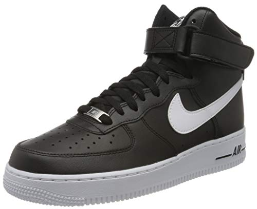 Nike Herren AIR Force 1 HIGH '07 AN20 Basketballschuh, Black White, 42 EU