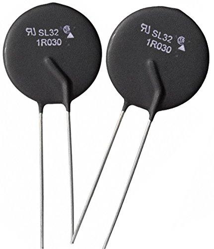 Ametherm SL32 1R030 (Pack of 2) NTC Thermistor, SG379 HVAC, Inrush Current Limiter 1 Ohm Ohm ±20% 1.18