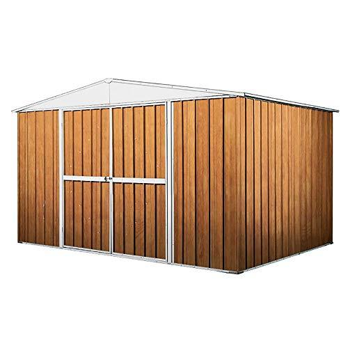 enaudi Casetta Box da Giardino in Lamiera Legno per Deposito Attrezzi 360x345x212cm