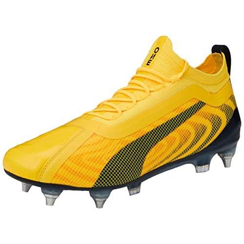 PUMA One 20.1 MXSG, Scarpe da Calcio Unisex-Adulto, Giallo (Ultra Yellow Black/Orange Alert), 42 EU