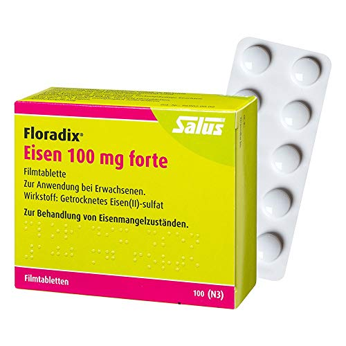 Floradix Eisen 100 mg forte, 100 St. Filmtabletten