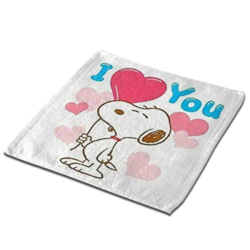 not applicable Mikrofaser quadratisches Tuch, Snoopy I Love Sie Soft Skin-Frendly Sweat Handtuch Gesicht Handtuch Hand Handtuch-