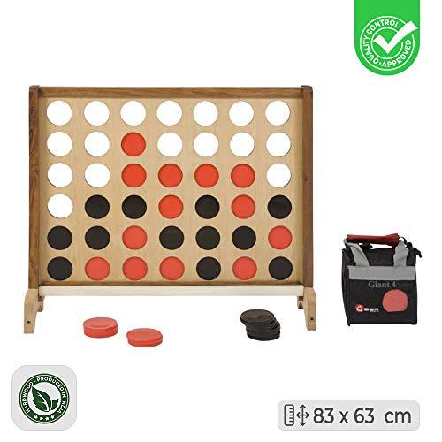 83cm Hoog Vier-op-een-Rij spel - Luxe Hardhout - India