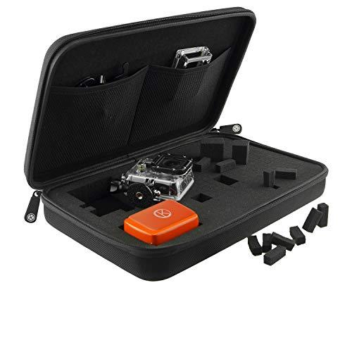 Caso CamKix con interni completamente personalizzabile per GoPro Hero 5 / 4 / 3+ / 3 / 2 /1 e Accessori - Tailor Caso alle proprie esigenze uniche - Ideale per i viaggi o Home Storage - CamKix panno in microfibra Pulizia finale Incluso ( Extra Large / Nero)