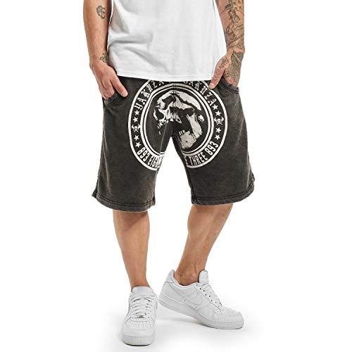Yakuza Herren Screaming Skull Sweat Shorts