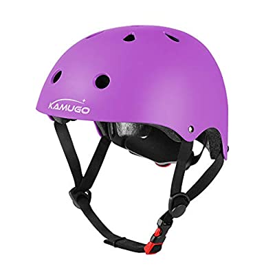 KAMUGO Kids Adjustable Helmet, Suitable for Toddler Kids Ages 3-8 Boys Girls, Multi-Sport Safety Cycling Skating Scooter Helmet (Purple)