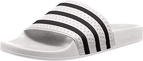 adidas Unisex-Erwachsene Originals ADILETTE Bade Sandalen - Weiß (WHITE/CBLACK/WHITE),EU 42