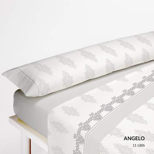 Serena Cotton Angelo Juego de Cama Algodón, Gris 135x200x3 cm