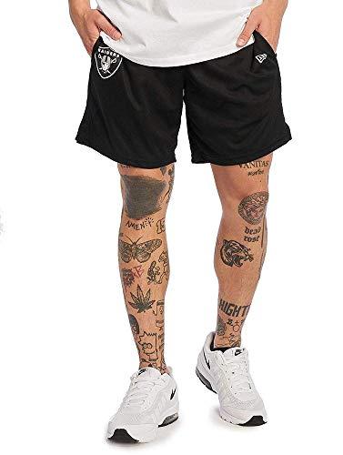 A NEW ERA Herren NFL Jersey Short Oakrai Blk Kurze Hose, schwarz, XL