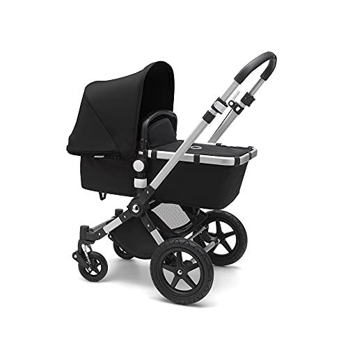 Bugaboo Cameleon 3 Plus, sistema de viaje 2 en 1 fácil y versátil: silla de paseo, carrito confortable con capazo, desde el nacimiento y hasta los 4 años, chasis de alumino y capota negra