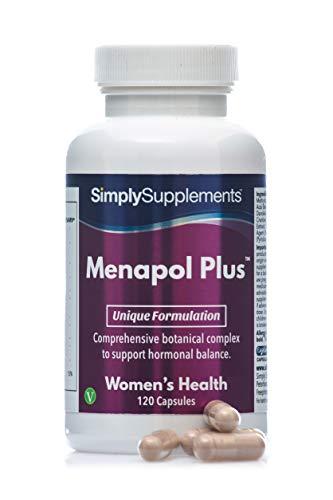 Menapol Plus - Con mirtillo e trifoglio rosso e isoflavoni di soia - 120 capsule – 2 mesi di trattamento - SimplySupplements