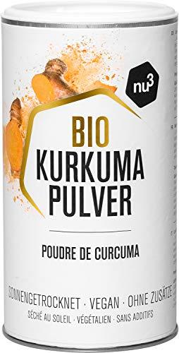 nu3 Curcuma Bio - Poudre 250g - Curcuma avec une qualité 100% bio - Délicieux arôme et couleur vive - Parfait pour le lait d'or au curcuma ou comme assaisonnement - Sans lactose et sans gluten