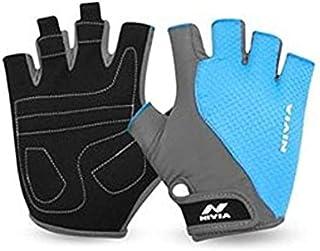 Nivia Coral Micro Gym Gloves, Medium (Sky Blue/Grey)