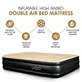 LIVIVO ® Inflatable High Pillow Raised Double Flocked Air Bed Mattress Airbed With
