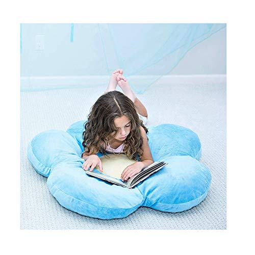 XIANBAO 20' Flower-Shaped Cushion Floor Pillow Seating Cushion,Thickened Durable Floor Pillow,Winter Chair Pads for Bedroom Balcony Car Office Patio Sofa Reading Nook Travel,Home Decoration (Blue)