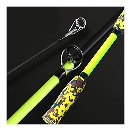 Angelköder Stab Spinnerei Casting Rod Baitcastingrolle Ultra Feeder Karpfen Carbon-Fliegen-Fischen-MH Leistung 3g ~ 21g-Köder-Gerät (Color : Yellow, Length : 1.8M Casting Rod)