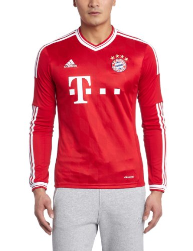 adidas Trikot FC Bayern München 2013-2014 Home Langarm [Größe XL]